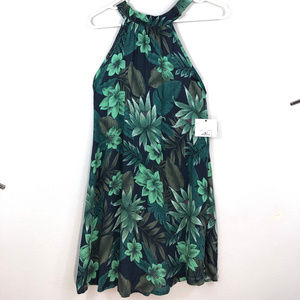 NWT O'Neill Tropical Leaf Swim Cover Up Dress